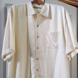 Men's Tommy Bahama Shirt - Off White/Cream Size L